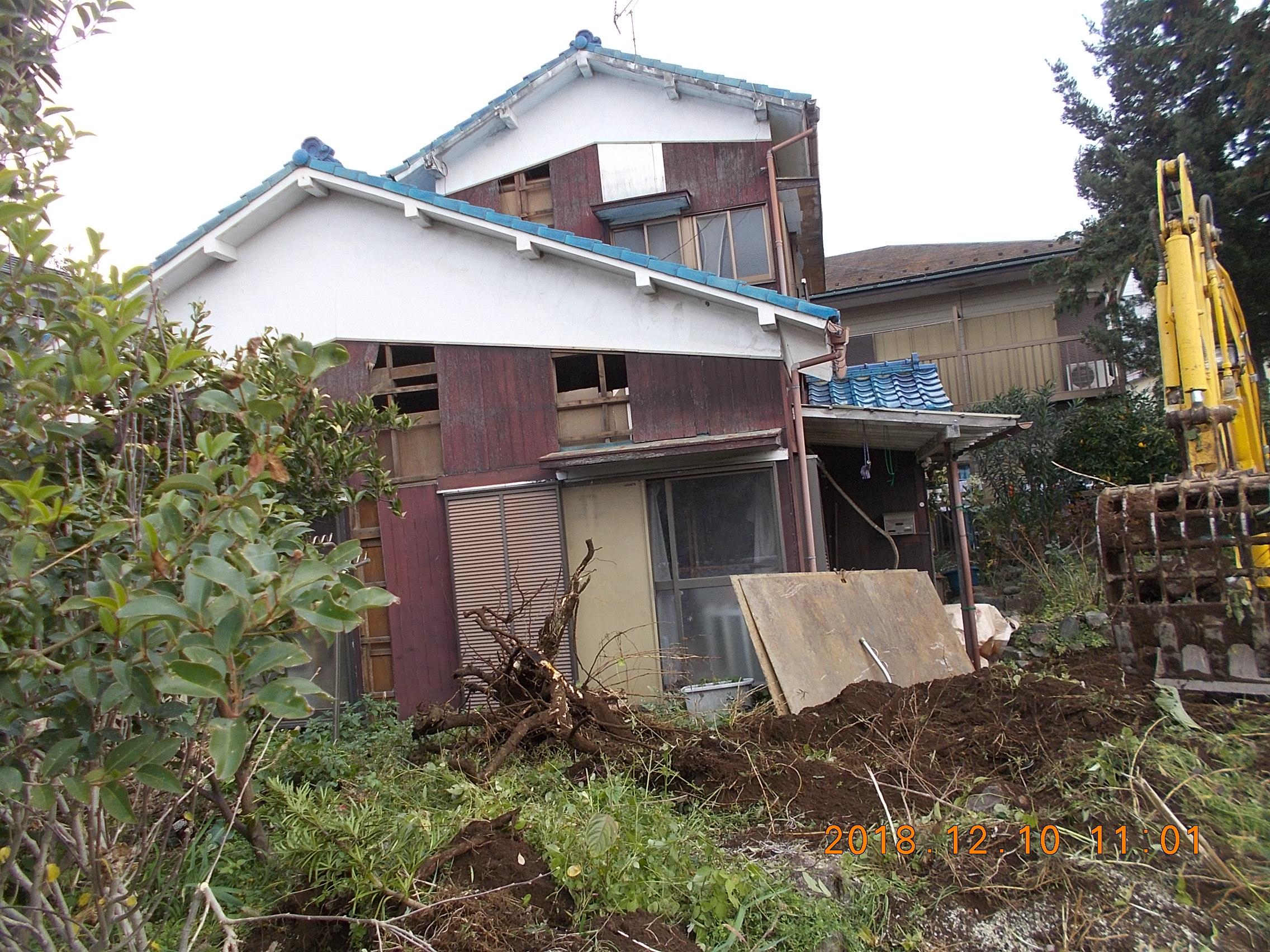 三郷市高洲 空き家解体